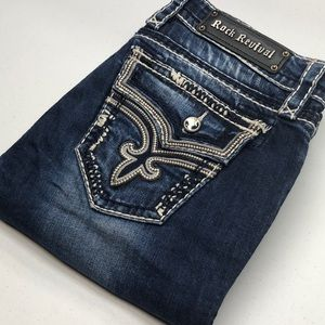 Womens Rock Revival Jeans KAI BOOT EUC 30x31 💎